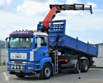 Camion ribaltabile usato MAN TGA 26.400 Kipper 6,40 m + Kran* 6x4 Topzustand!