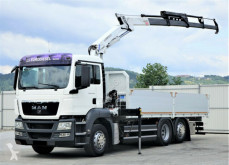 MAN flatbed truck TGS 26.360 Pritsche 6,40 m+Kran/FUNK *6x2!