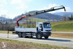 Camion Renault Kerax 430 DXI*Pritsche6,50m+Kran/FUNK*To plateau occasion