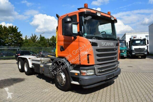 Voir les photos Camion Scania G480 Abrollkipper mit PALIFT 6x4 *Radst.3,9m*