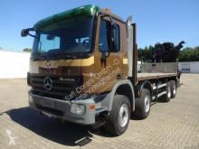 Mercedes dropside truck Actros 4141 Pritsche m. HIAB377 E8XS 8xAusschube