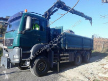 MAN TGS 26.360 6x6 HIAB 144 BORDMATIK Kran Kipper truck used flatbed