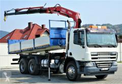 DAF CF 75.360 *Kipper 6,10 + Kran*6x4 *Topzustand! truck used flatbed