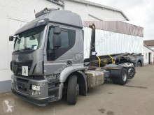 Camión Iveco Stralis AT260SY/PS/460 6x2/4 AT260SY/PS/460 6x2/4, Lenk-Liftachse, Meiller RK 20.70 Gancho portacontenedor usado
