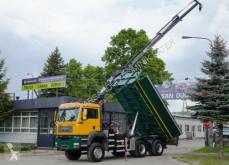 Ciężarówka platforma MAN TGA 26.400 6x6 HMF 1460 K3 BORDMATIK Kran Kipper