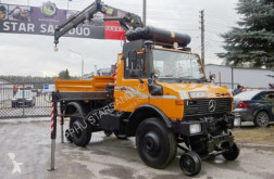 Camion plateau Unimog 427/20 ZAGRO RAIL HIAB 071 Road two way Schiene