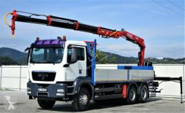 Camion MAN TGS 33.440 Pritsche 6,30 m+Kran/FUNK*6x4! plateau occasion