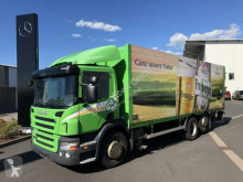 Camión caja abierta transporte de bebidas usado Scania P320DB 6x2 Getränkefahrzeug LBW 2x AHK