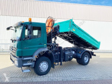 Mercedes Axor 1829 AK 4x4 1829 AK 4x4, Kran Atlas 105.2-A3L truck used three-way side tipper