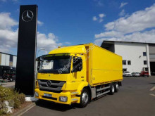 Camión caja abierta transporte de bebidas usado Mercedes Axor 2529 LL 6x2 Schwenkwand Lenkachse Kamera