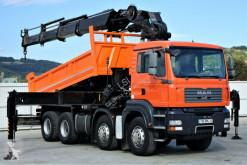 Camion plateau MAN TGA 35.400 Kipper 5,00 m+KRAN/FUNK HIAB 600*8x4!