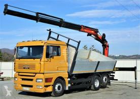 Vrachtwagen MAN TGA 26.460 Kipper 5,60 m + Kran*6x2! tweedehands platte bak