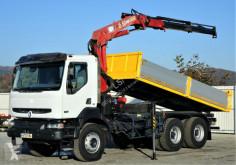 camião Renault KERAX 370 DCI Kipper 5,40m + Kran 6x4