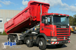camion Scania R124CB 8x4, Mulde, Hydr. Klappe, Schalter, 420PS