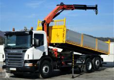 Camión caja abierta Scania P340 Kipper 6,20m + Kran*6x2*Topzustand