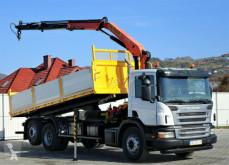 Camion benne Scania P340 Kipper 6,20m +Kran*6x2*Topzustand