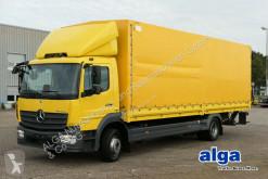 Mercedes ponyvával felszerelt plató teherautó
