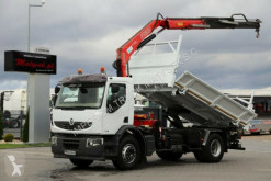 Camion plateau Renault LANDER 280/4X2/3 SIDED TIPPER+CRANE FASSI F130
