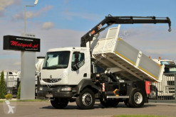 camion Renault MIDLUM 180 / 4X4 / TIPPER + CRANE HIAB 099 /