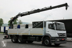 Mercedes AXOR 2633 /6x4/ CRANE HIAB 166 / REMOTE truck used flatbed