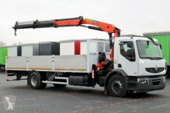 Camion plateau Renault PREMIUM 280/4X2/CRANE PALFINGER PK 15500/L: 7,5M