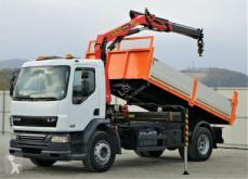 camion DAF LF 55.220*Kipper 4,50 + Kran/FUNK*Topzustand!!