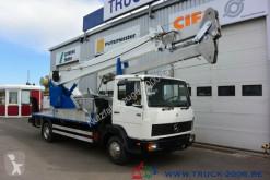 Mercedes 814 Böcker Montage-Dachdecker Kran 23.5m = 300kg truck