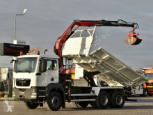 MAN TGS 26.360/ 6X4/ 3 SIDED TIPPER+CRANE FASSI F110 truck
