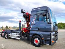camion MAN hook + Scrap Crane Epsilon e115z