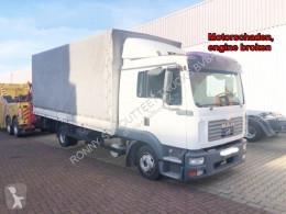 MAN ponyvával felszerelt plató teherautó TGL 8.210 BL 4x2 8.210 BL 4x2 mit LBW, Motorschaden!