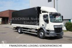 Camion cassone centinato usato DAF LF 310 FA Pritsche 7,21m Edscha Euro-6 Schalter