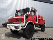 vrachtwagen Unimog MB U1550 L37 - Fire Truck - Lier, Winch, Winde - Watertank - Pomp - Dingo Achsen!