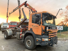 Camion benne occasion Scania 94C-310 HOOK + CRANE PALFINGER PK 9001 - 2x HYDR / GANCHO + GRUA PK 9001 - STEEL SPRING / BALLIESTAS - MANUAL 4+4