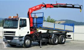 Camion benă second-hand DAF CF 75.360 *Kipper 6,10 + Kran*6x4 *Topzustand!