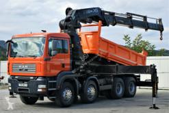 MAN TGA 35.400 Kipper 5,00 m+KRAN/FUNK HIAB 600*8x4! truck used tipper