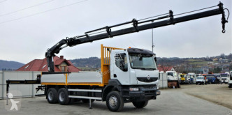 Camion plateau occasion Renault Kerax 370 DXI*Pritsche6,30m+Kran/FUNK*To
