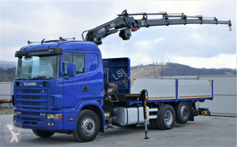 Camion Scania 164L 580 Pritsche 6,30m +Kran /FUNK Topzustand! plateau occasion