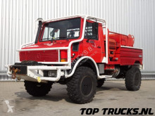 vrachtwagen Unimog MB U1550 L37 (2150) - Fire Truck - Lier, Winch, Winde - Watertank - Pomp - Dingo Achsen!