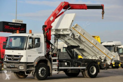 Camion Mercedes AXOR 1828/4X2/3 SIDED TIPPER+CRANE HMF/BORTMATIC cassone usato