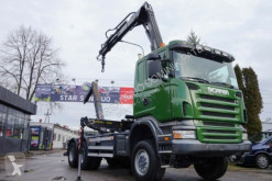 Camion Scania R 380 6x6 HIAB 144 Abrollkipper mit Haken HOOK plateau occasion