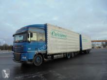 Lastbil med släp DAF XF105 flexibla skjutbara sidoväggar begagnad
