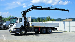 Camion Scania P340 Pritsche 6,60m +Kran/FUNK *6x4*Topzustand! plateau occasion