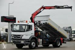 vrachtwagen Mercedes AXOR 1829/4X2/TIPPER+CRANE FASSI F110/RADIO