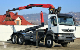 camion Renault KERAX 370 DXI Abrollkipper+Kran 6x4