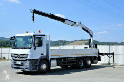 Mercedes Actros 2532 Pritsche 7,10m+ Kran/FUNK*6x2* truck used flatbed