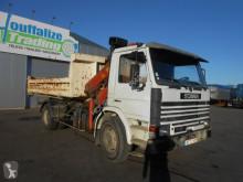 Scania 82 - container - crane - full steel truck