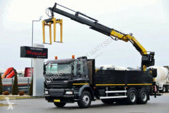 Camion plateau DAF CF 85.410/6X4/ BOX + CRANE FASSI F190/SADDLE /
