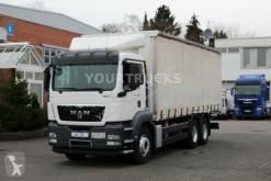 Camião MAN TGS 28.360 BL EURO 5 Plane 7,5m/Mitnahmestapler caixa aberta com lona usado