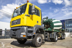 MAN TGA 18.410 tractor-trailer used concrete mixer concrete