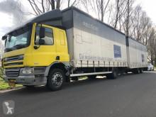 Ciężarówka z przyczepą DAF FA75 firanka używana